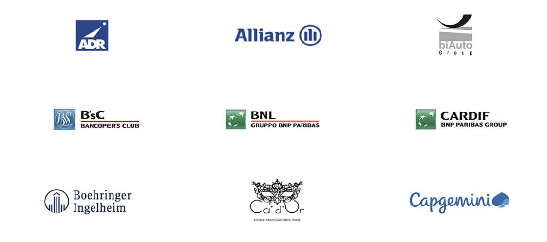 realizzazione presentazioni powerpoint professionali per Allianz, BNL, Capgemini, Boehringer Ingelheim, Ca' d'Or e altre importanti aziende