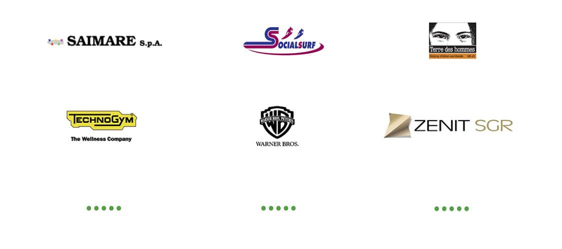 presentazioni powerpoint professionali per TechnoGym, Warner Bros, Zenit e altri marchi