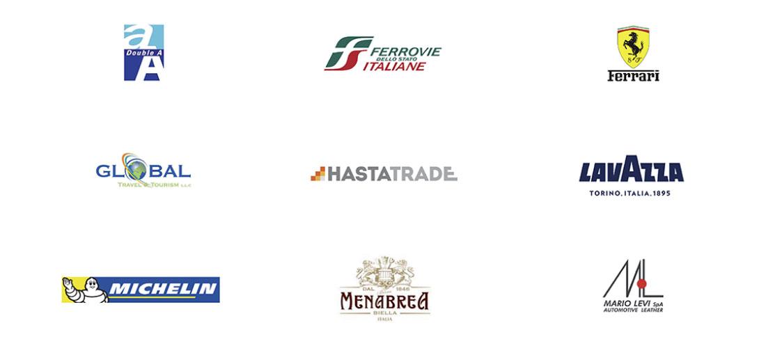 Presentazioni Powerpoint professionali per Ferrovie dello Stato, Ferrari, Michelin, Lavazza, Menabrea e altre aziende in vari settori